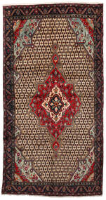 Koliai Teppe 160X305 Ekte Orientalsk Håndknyttet Teppeløpere Lysbrun/Svart (Ull, Persia/Iran)