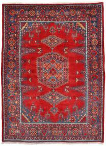 Wiss Teppe 160X222 Ekte Orientalsk Håndknyttet Rust/Mørk Rød (Ull, Persia/Iran)