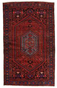 Zanjan Teppe 139X224 Ekte Orientalsk Håndknyttet Mørk Rød (Ull, Persia/Iran)