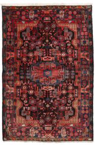 Nahavand Teppe 152X245 Ekte Orientalsk Håndknyttet Mørk Rød/Svart (Ull, Persia/Iran)