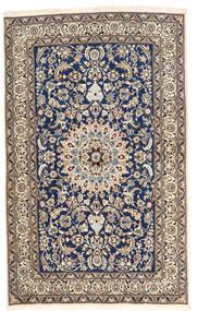 Nain Teppe 157X252 Ekte Orientalsk Håndknyttet Lys Grå/Mørk Lilla (Ull, Persia/Iran)
