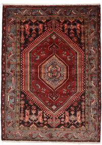 Zanjan Teppe 146X200 Ekte Orientalsk Håndknyttet Mørk Rød (Ull, Persia/Iran)