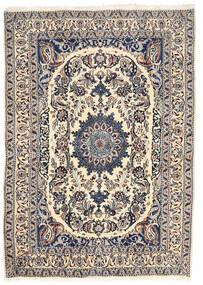 Nain Teppe 162X228 Ekte Orientalsk Håndknyttet Lys Grå/Beige (Ull, Persia/Iran)