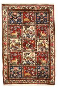 Bakhtiar Collectible Teppe 115X170 Ekte Orientalsk Håndknyttet Mørk Brun/Hvit/Creme (Ull, Persia/Iran)