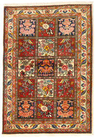 Bakhtiar Collectible Teppe 108X155 Ekte Orientalsk Håndknyttet Mørk Brun/Rød (Ull, Persia/Iran)