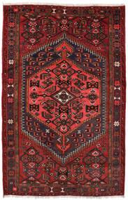 Zanjan Teppe 127X198 Ekte Orientalsk Håndknyttet Mørk Rød/Svart (Ull, Persia/Iran)