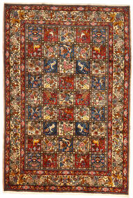 Bakhtiar Collectible Teppe 209X304 Ekte Orientalsk Håndknyttet Mørk Rød/Mørk Grå (Ull, Persia/Iran)