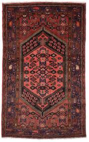 Zanjan Teppe 130X218 Ekte Orientalsk Håndknyttet Mørk Rød (Ull, Persia/Iran)