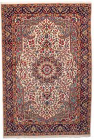 Kerman Teppe 201X301 Ekte Orientalsk Håndknyttet Mørk Rød/Beige (Ull, Persia/Iran)