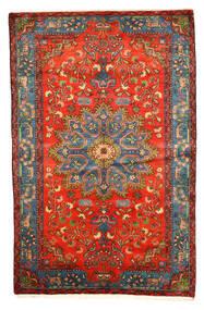 Nahavand Old Teppe 158X246 Ekte Orientalsk Håndknyttet Mørk Rød/Lys Grå (Ull, Persia/Iran)
