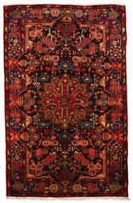 Nahavand Old Teppe 160X250 Ekte Orientalsk Håndknyttet Mørk Brun/Rust (Ull, Persia/Iran)