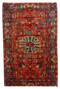 Nahavand Old Teppe 150X235 Ekte Orientalsk Håndknyttet Mørk Rød/Mørk Brun (Ull, Persia/Iran)