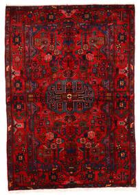 Nahavand Old Teppe 162X243 Ekte Orientalsk Håndknyttet Mørk Rød/Rust (Ull, Persia/Iran)