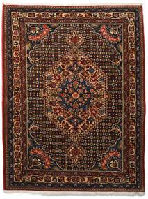 Bakhtiar Collectible Teppe 113X144 Ekte Orientalsk Håndknyttet Mørk Brun/Mørk Rød (Ull, Persia/Iran)