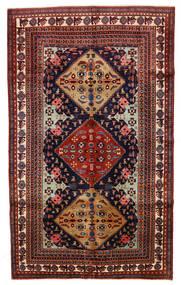 Ardebil Teppe 153X253 Ekte Orientalsk Håndknyttet Mørk Rød/Svart (Ull, Persia/Iran)