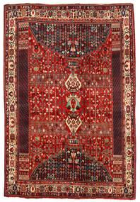 Shiraz Teppe 194X290 Ekte Orientalsk Håndknyttet Mørk Rød/Rust (Ull, Persia/Iran)