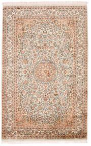 Kashmir Ren Silke Teppe 98X152 Ekte Orientalsk Håndknyttet Beige/Mørk Brun (Silke, India)