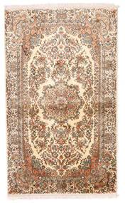 Kashmir Ren Silke Teppe 93X155 Ekte Orientalsk Håndknyttet Beige/Brun/Lyserosa (Silke, India)