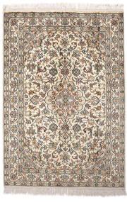 Kashmir Ren Silke Teppe 64X93 Ekte Orientalsk Håndknyttet Lys Grå/Beige (Silke, India)