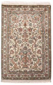Kashmir Ren Silke Teppe 64X96 Ekte Orientalsk Håndknyttet Lys Grå/Beige (Silke, India)