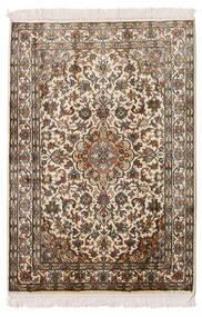 Kashmir Ren Silke Teppe 64X93 Ekte Orientalsk Håndknyttet Beige/Brun (Silke, India)