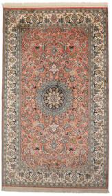 Kashmir Ren Silke Teppe 93X156 Ekte Orientalsk Håndknyttet Mørk Grå/Mørk Rød (Silke, India)