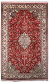 Kashmir Ren Silke Teppe 97X158 Ekte Orientalsk Håndknyttet Mørk Rød/Mørk Brun (Silke, India)