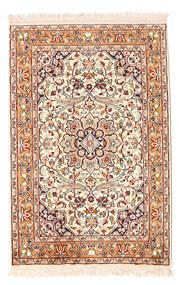 Kashmir Ren Silke Teppe 62X93 Ekte Orientalsk Håndknyttet Lysbrun/Beige (Silke, India)