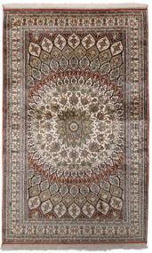 Kashmir Ren Silke Teppe 97X156 Ekte Orientalsk Håndknyttet Lys Grå/Mørk Grå (Silke, India)