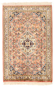 Kashmir Ren Silke Teppe 64X99 Ekte Orientalsk Håndknyttet Beige/Lysbrun (Silke, India)