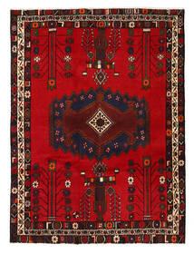 Afshar/Sirjan Teppe 130X178 Ekte Orientalsk Håndknyttet Mørk Brun/Mørk Rød/Rød (Ull, Persia/Iran)