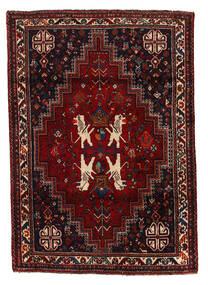 Shiraz Teppe 124X175 Ekte Orientalsk Håndknyttet Mørk Rød (Ull, Persia/Iran)