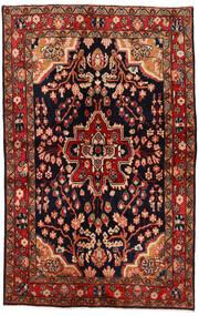 Mahal Teppe 137X213 Ekte Orientalsk Håndknyttet Mørk Rød/Mørk Brun (Ull, Persia/Iran)