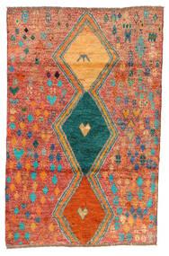 Moroccan Berber - Afghanistan Teppe 114X175 Ekte Moderne Håndknyttet Rød/Orange (Ull, Afghanistan)