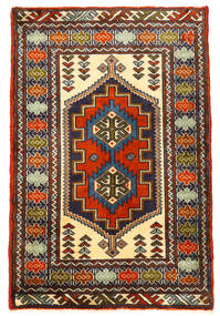 Turkaman Teppe 61X93 Ekte Orientalsk Håndknyttet Svart/Mørk Brun (Ull, Persia/Iran)