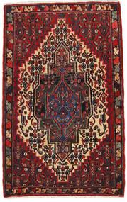 Senneh Teppe 65X105 Ekte Orientalsk Håndknyttet Mørk Rød/Svart (Ull, Persia/Iran)