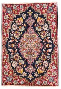 Kerman Teppe 58X85 Ekte Orientalsk Håndknyttet Mørk Grå/Hvit/Creme (Ull, Persia/Iran)
