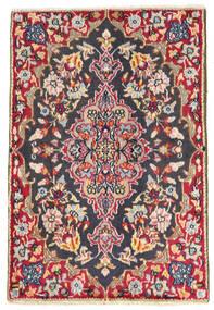 Kerman Teppe 57X84 Ekte Orientalsk Håndknyttet Svart (Ull, Persia/Iran)
