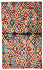 Moroccan Berber - Afghanistan Teppe 85X142 Ekte Moderne Håndknyttet Mørk Brun/Rust (Ull, Afghanistan)