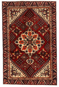 Bakhtiar Teppe 125X195 Ekte Orientalsk Håndknyttet Mørk Brun/Mørk Rød (Ull, Persia/Iran)