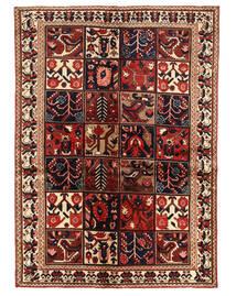Bakhtiar Teppe 140X196 Ekte Orientalsk Håndknyttet Mørk Rød/Mørk Brun (Ull, Persia/Iran)