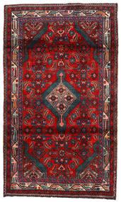 Hamadan Teppe 112X192 Ekte Orientalsk Håndknyttet Mørk Rød/Svart (Ull, Persia/Iran)