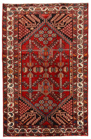 Rudbar Teppe 130X200 Ekte Orientalsk Håndknyttet Mørk Rød/Rust (Ull, Persia/Iran)