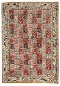 Moud Teppe 171X244 Ekte Orientalsk Håndknyttet Lysbrun/Mørk Brun (Ull/Silke, Persia/Iran)