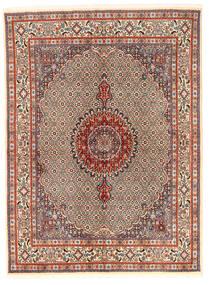 Moud Teppe 167X226 Ekte Orientalsk Håndknyttet Lysbrun/Mørk Brun (Ull/Silke, Persia/Iran)