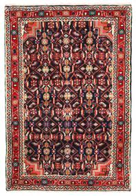Hosseinabad Teppe 68X102 Ekte Orientalsk Håndknyttet Svart/Mørk Rød (Ull, Persia/Iran)