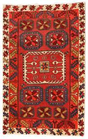 Ardebil Teppe 74X107 Ekte Orientalsk Håndknyttet Mørk Brun/Mørk Rød (Ull, Persia/Iran)