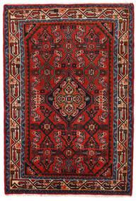 Hamadan Teppe 78X117 Ekte Orientalsk Håndknyttet Rust/Mørk Rød/Svart (Ull, Persia/Iran)
