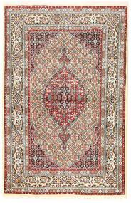 Moud Teppe 96X194 Ekte Orientalsk Håndknyttet Brun/Mørk Beige (Ull/Silke, Persia/Iran)
