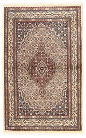 Moud Teppe 96X153 Ekte Orientalsk Håndknyttet Beige/Mørk Rød (Ull/Silke, Persia/Iran)